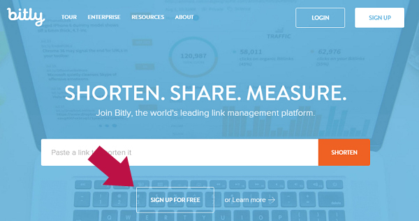 Registrarsi a bitly