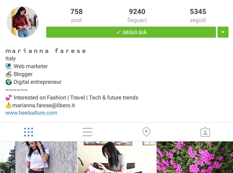 Preferenza Come creare la perfetta biografia sul tuo profilo Instagram  VP13