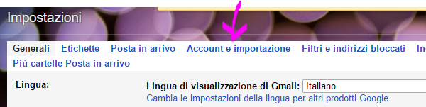 Account e importazione Gmail