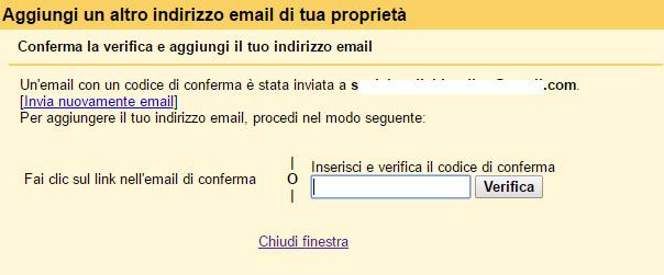 Aggiungi un altro indirizzo email di tua proprietà 3