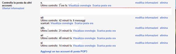 Controlla la posta da altri account gmail