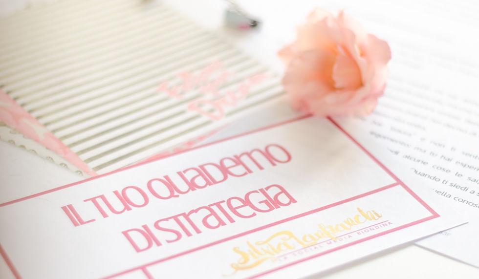 quaderno di strategia social di Silvia Lanfranchi