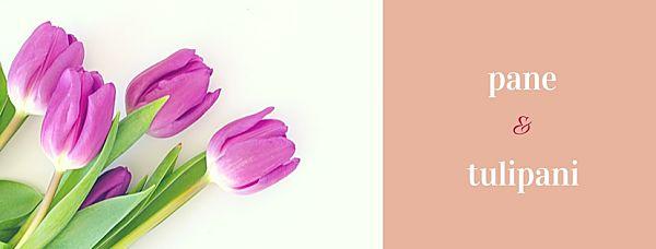 Cover pagina facebook da foto stock con tulipani viola