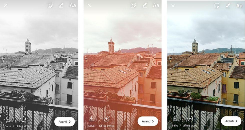 i filtri delle instagram storie