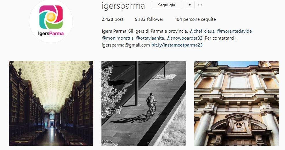 Profilo instagram @igersparma