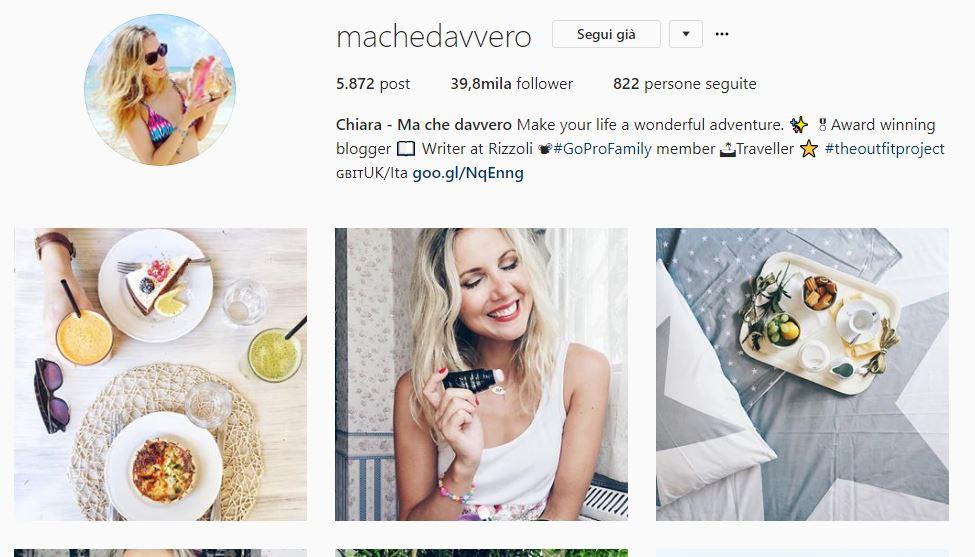 Profilo Instagram @machedavvero