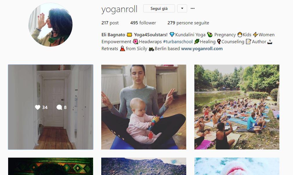 Profilo Instagram @yoganroll