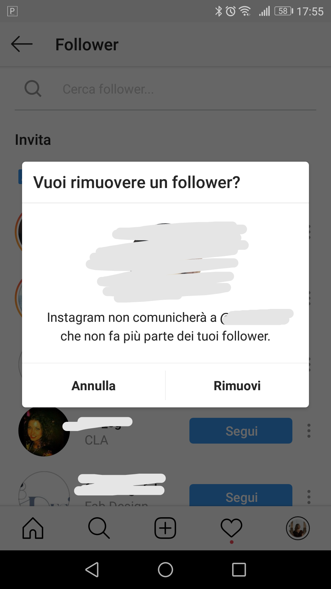 Come eliminare un follower di Instagram
