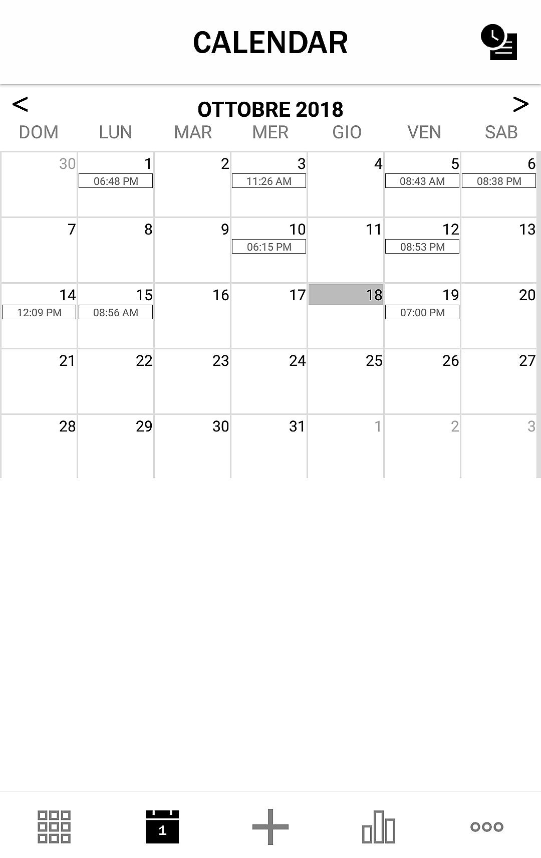 Il calendario delle pubblicazioni programmate su Planoly