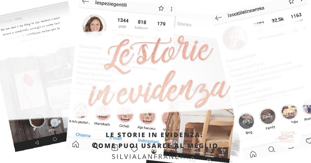 storie in evidenza instagram
