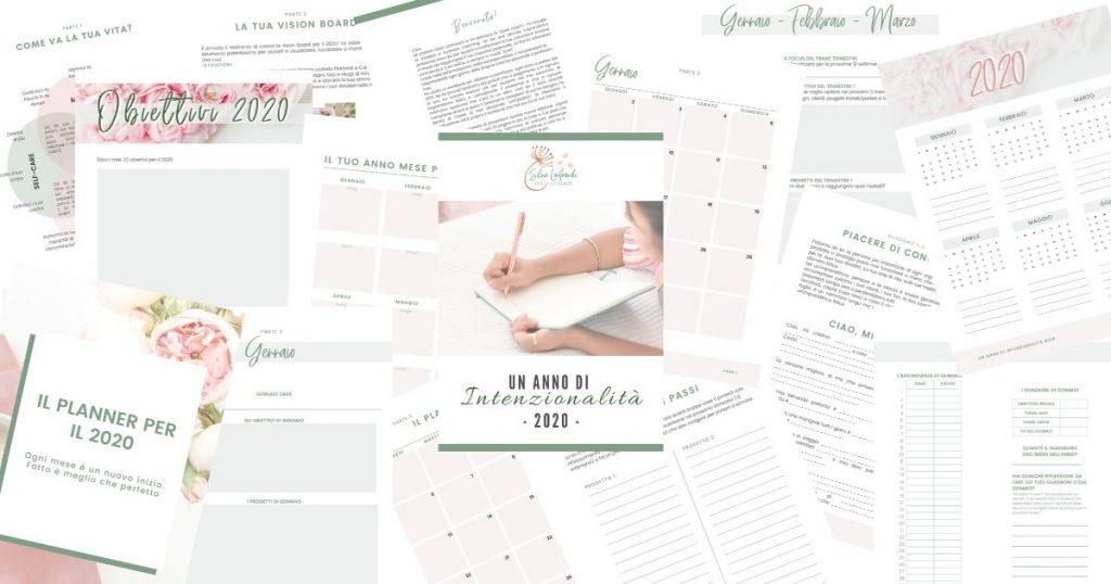 il workbook + planner mensile per un 2020 vissuto con intenzionalità - Silvia Lanfranchi