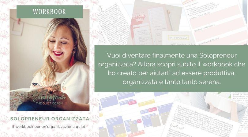 Scopri il workbook dedicato all'organizzazione per freelance